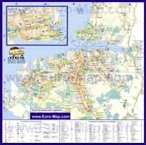 Карта Севастополя с достопримечательностями и маршрутами транспорта