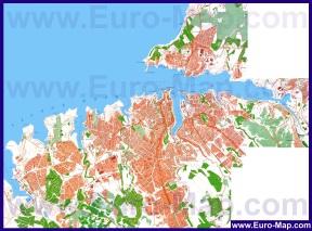 Подробная карта города Севастополь