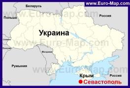 Автомобильная карта дорог Севастополя