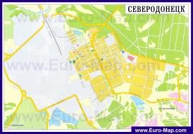 Карта дорог Северодонецка