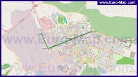 Подробная карта города Северодонецк