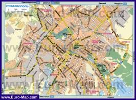Автомобильная карта дорог Симферополя