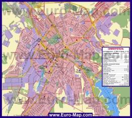 Подробная карта города Симферополь