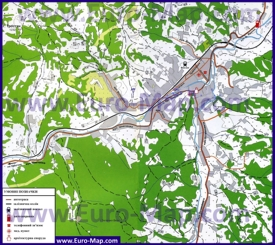 Карта Славского с окрестностями