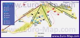 Карта трасс и подъемников горы тростян
