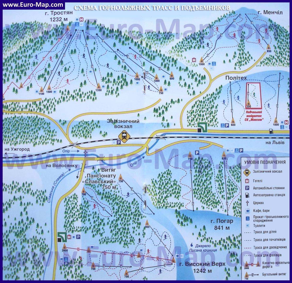 Картинки по запросу славское карта трасс