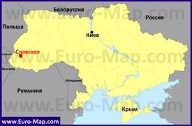 Славское на карте Украины