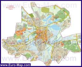 Подробная карта города Славянск