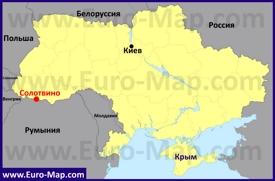 Солотвино на карте Украины
