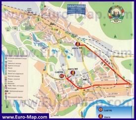 Туристическая карта поселка Солотвино