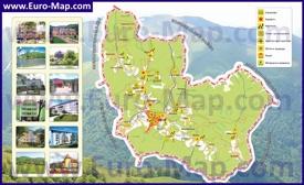 Туристическая карта Свалявы с окрестностями