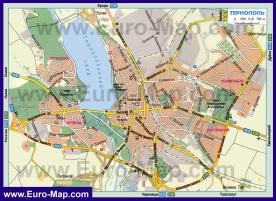 Автомобильная карта дорог Тернополя