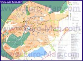 Подробная туристическая карта Трускавца с улицами