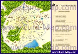 Туристическая карта Трускавца с санаториями