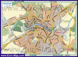 Карта города Ужгород