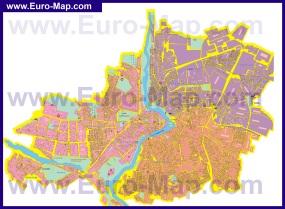 Подробная карта города Винница