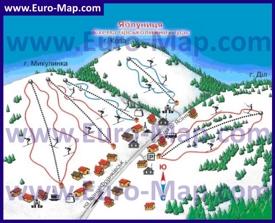 Туристическая карта курорта Яблуница