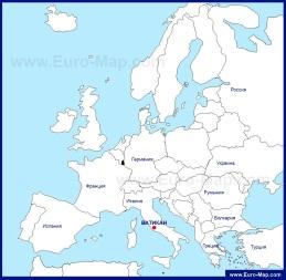 Ватикан на карте европы