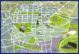 Карта центра Эдинбурга с достопримечательностями