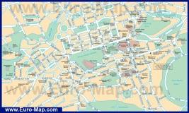 Карта города Эдинбург с достопримечательностями