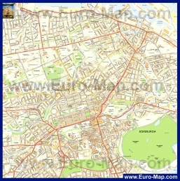 Подробная карта Эдинбурга