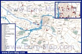 Карта города Глазго с отелями