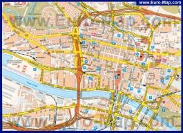 Подробная карта Глазго с достопримечательностями