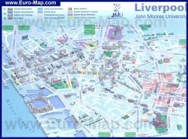 Туристическая карта города Ливерпуль