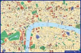 Карта центра города Лондон