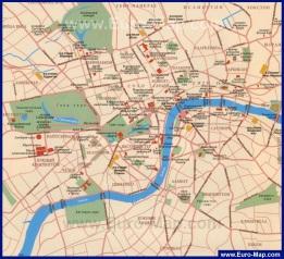 Карта Лондона с достопримечательностями на русском языке