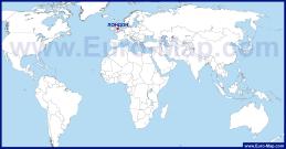 Лондон на карте мира