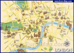 Туристическая карта Лондона с достопримечательностями