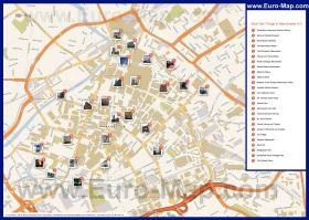 Карта Манчестера с достопримечательностями