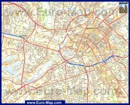 Подробная карта Манчестера