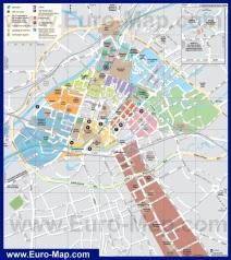Туристическая карта города Манчестер