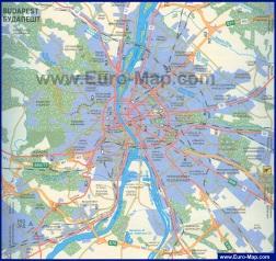 Карта Будапешта на русском языке
