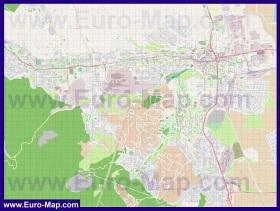 Подробная карта города Мишкольц