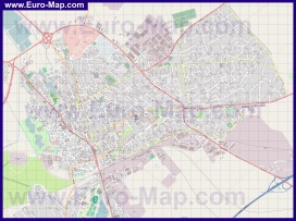 Подробная карта города Секешфехервар