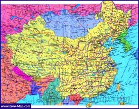 Политическая карта Китая