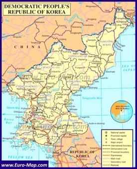Политическая карта КНДР