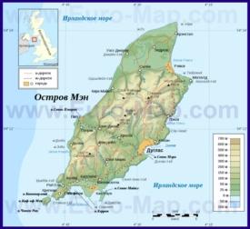 Карта острова Мэн на русском языке