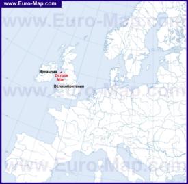 Остров Мэн на карте мира