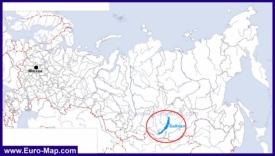 Озеро Байкал на карте России