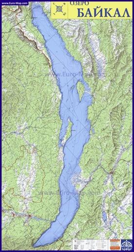 Подробная карта озера Байкал
