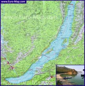Топографическая карта Байкала