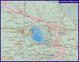 Подробная карта озера Баскунчак