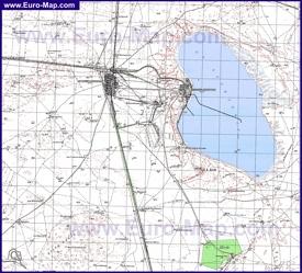 Топографическая карта озера Баскунчак