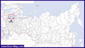 Озеро Ильмень на карте России