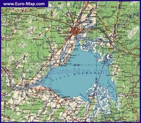 Подробная карта озера Ильмень