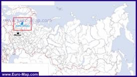 Ладожское озеро на карте России